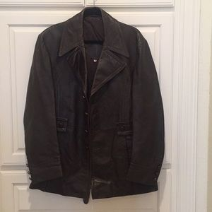Vintage Men's Leather Coat